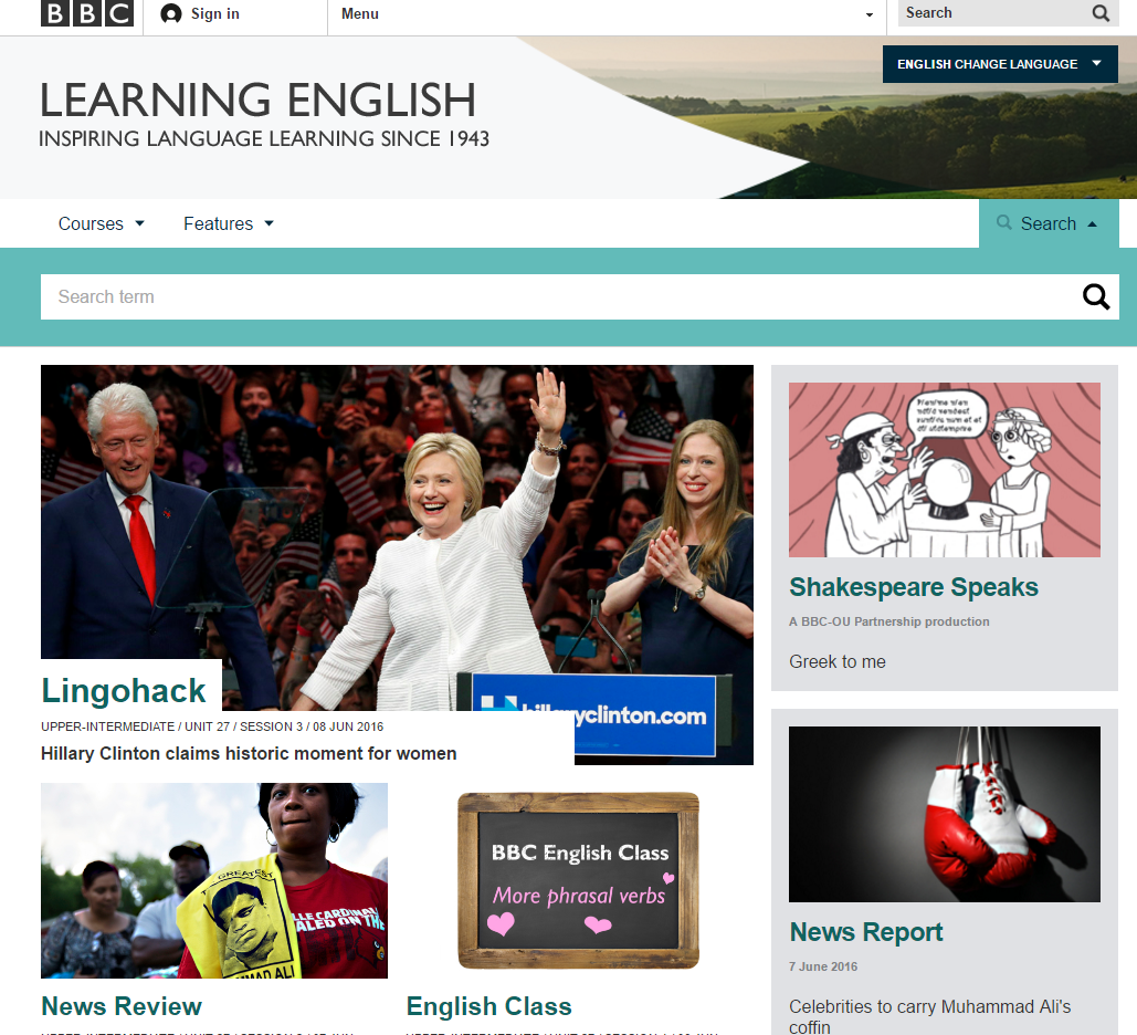 Student's Review. BBC's website 'Learning English' by Lourdes Montero